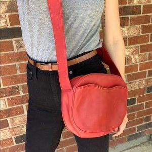 Vintage Red Crossbody Bag